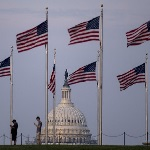 capitol with flags